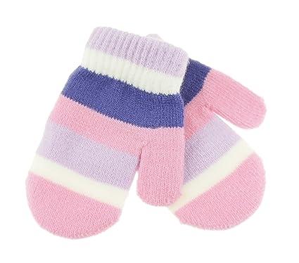 bon marché emballage fort vente au royaume uni Glamour Girlz garçons Filles pour Enfant Stripy Magic Moufles de 6 Mois à 5  Ans