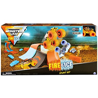 Monster Jam Fire & Ice Stunt Set Exclusive Playset: Toys & Games [5Bkhe1006813]