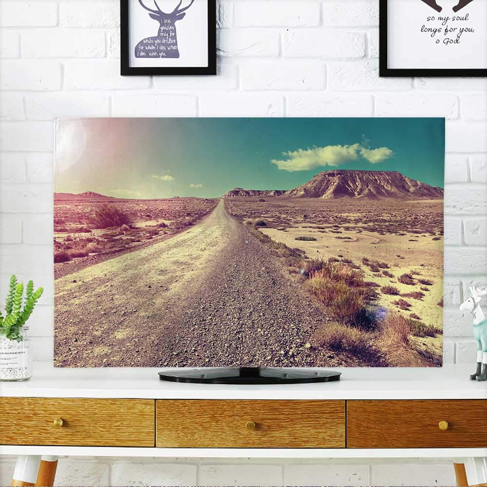 PRUNUS Protect Your TV Travel and Adventures Through Remote Desert Landscape.Desert Landscape and Road Protect Your TV W19 x H30 INCH/TV 32''