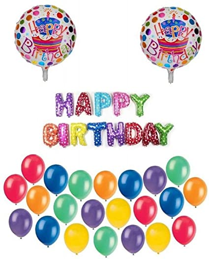 Buy Crafts Stock Latex Party Celebration Multicolor Happy Birthday Balloon Online At Low Prices In India
