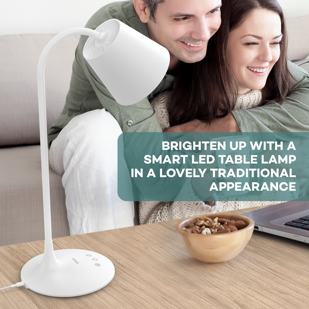 VAVA VA-DL29 LED Desk Lamp for Office Home Lighting, 3 Color Modes with Gradual Dimming, 1 Hour Timer Touch Control, Memory Function, Official Member of Philips Enabled Licensing Program by VAVA (Image #6)