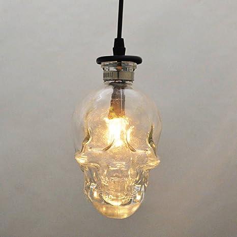 RAING Lámpara de Techo de Calavera, Loft Vintage Bar ...