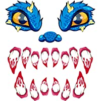 Halloween Decorations Garage Door Archway Monster Face with Eyes, Nostrils & Teeth Included Double Side Adhesive Tapes (18.5inches Eyes, 11.8inches noses & 17.9inches Teeth)