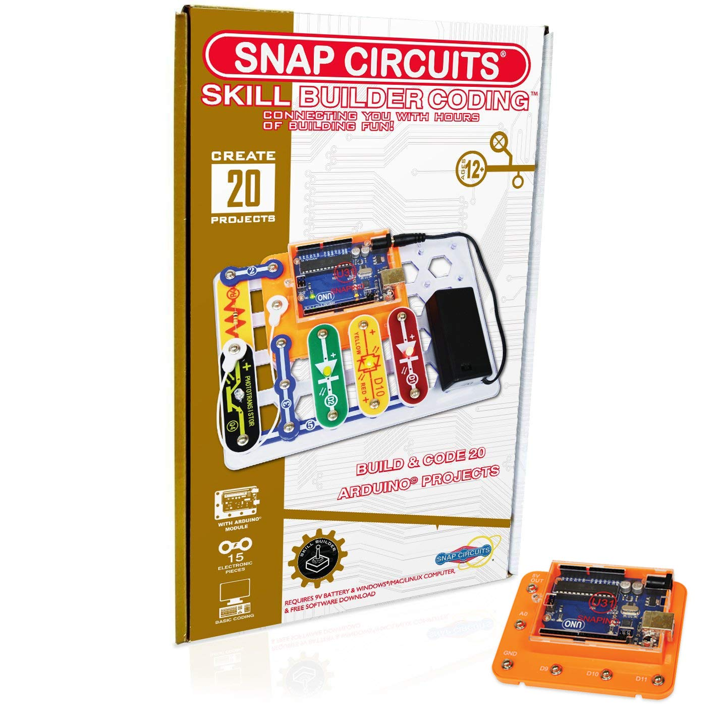 Snap Circuits Skill Builder Coding Making A Circuit Maker 125 Projects Product Details Page Arduino Compatible Perfect Introduction To Great Stem