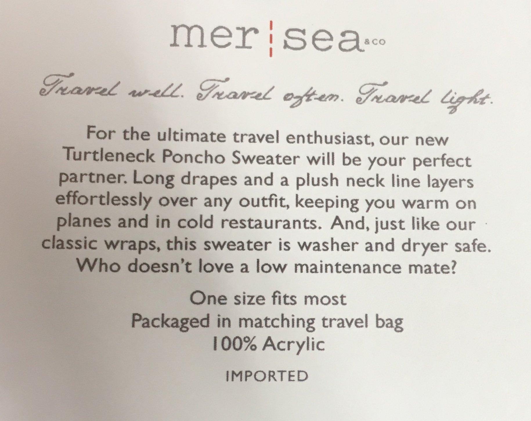 Mer Sea Travel Sweater (Turtleneck Poncho, Moss) by Mer Sea (Image #4)