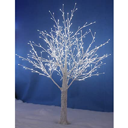 best website 27361 f94b4 SPARKLES 150cm White Snowy Twig Tree 448 White LED Lights Xmas Indoor  Outdoor Decoration