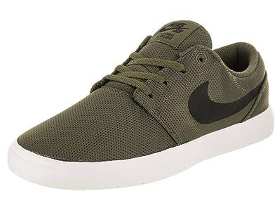 b209e46a9351fc Nike Kids Portmore II Ultralight (GS) Medium Olive Black Skate Shoe 4.5 Kids