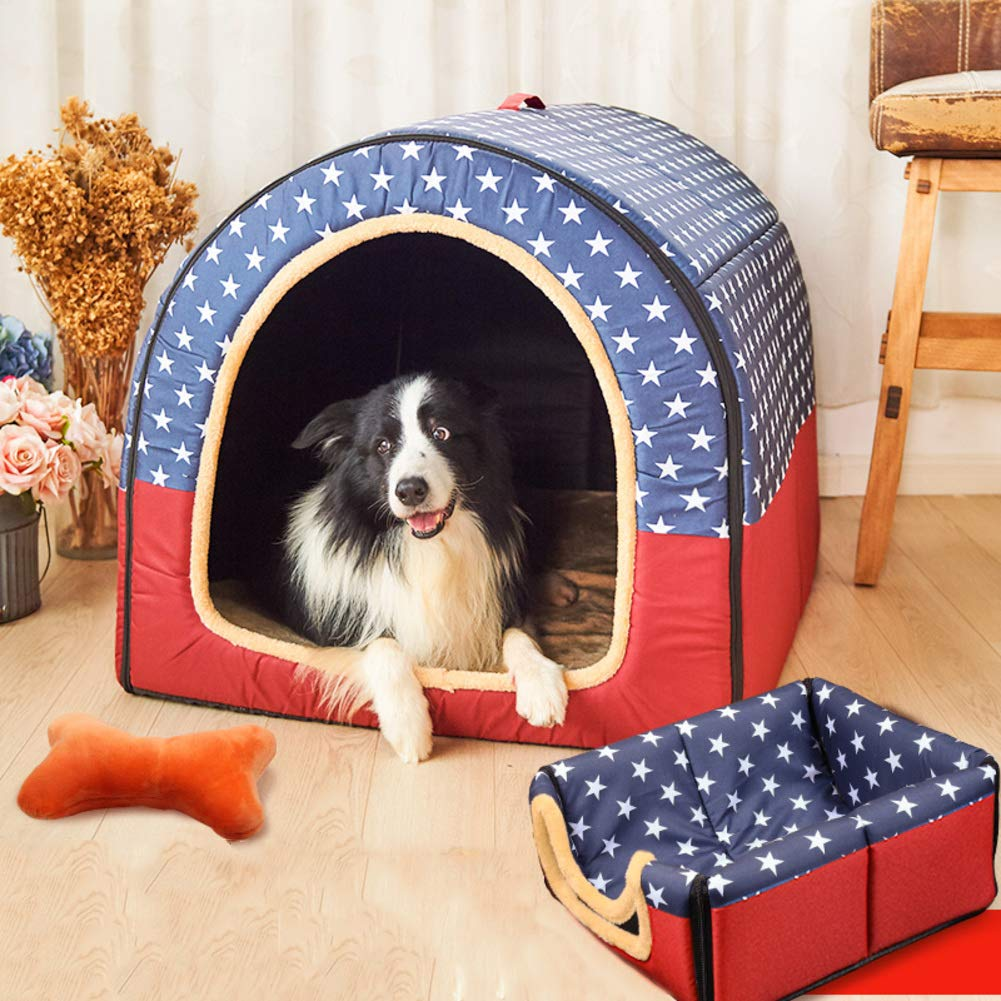 Lightweight Portable Dog bed, Durable Non-skid Removable cover Cat Pet nest Washable Kennel-A XL
