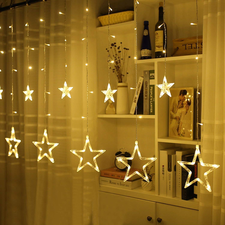 GlobaLink® Guirlande Lumineuse décoration avec 12 Etoiles 2M Chaîne ...