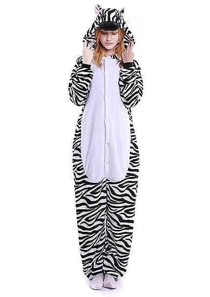 8bfdf7ce84 ABYED Pijama Animal Entero Unisex para Adultos Niños con Capucha Ropa de  Dormir Traje de Disfraz para Festival de Carnaval Halloween Navidad   Amazon.es  ...