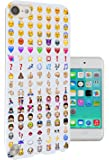 558 - Cool Smiley Faces emoji Funky Funny Design Apple ipod Touch 5 Fashion Trend Protecteur Coque Gel Rubber Silicone protection Case Coque