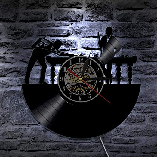 ZDwawz Vinyl Pared Vinilo Record LED de Billar Diseño Moderno es ...