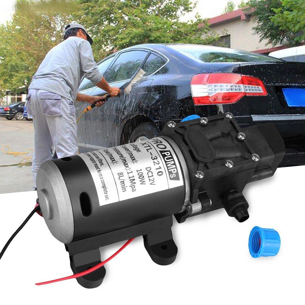 Boat Soulong 12V 160Psi Automatic High Pressure Water Pump Diaphragm Self-Priming Water Pump for Car Caravan