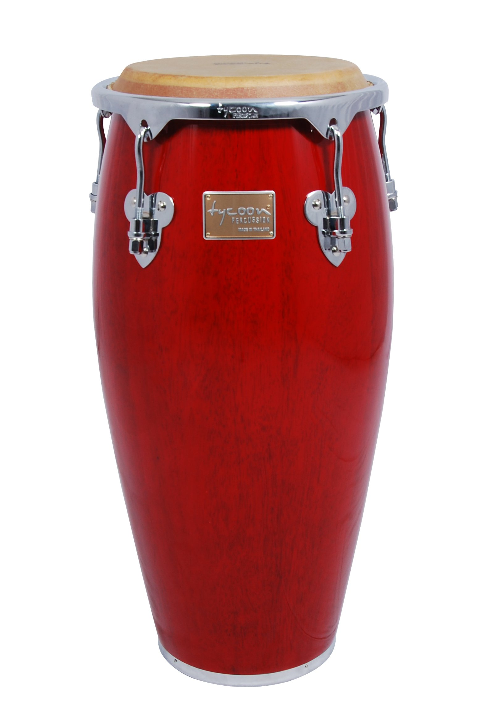 Tycoon Percussion 11 Inch Master Classic Series Red Quinto With Single Stand by Tycoon Percussion
