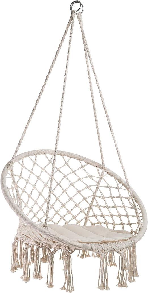 TecTake 402986 - Silla Colgante Jane, Estructura de Acero, Estable y Robusta, Ideal para Interior y Exterior: Amazon.es: Jardín