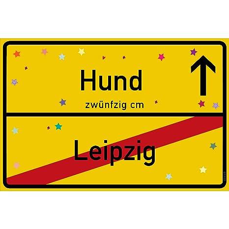 vanva Cartel para Perros Leipzig Amarillo para Perros ...