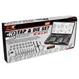 Performance Tool W4001DB 40-Piece SAE Tap And Die Set (Color: Silver, Tamaño: 40-Piece SAE Tap And Die Set)