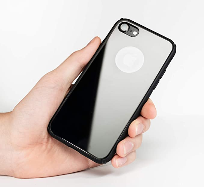 newest 6c2a6 fdadc New Shockproof Tempered Glass Case - Black with TPU Frame Back Cover  Dust-Proof for iPhone 7 for iPhone 8