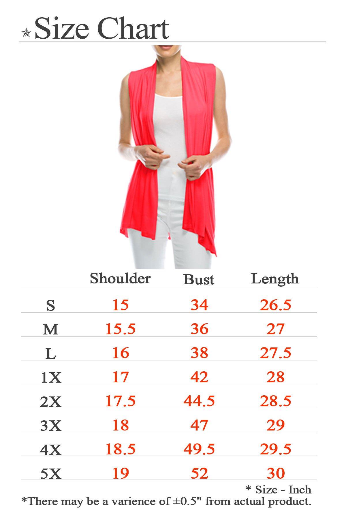 J Doe Style Womens Lightweight Sleeveless Open Front Cardigan, 1X, Khaki by J Doe Style (Image #5)