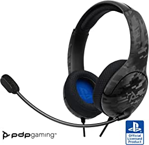 PDP Gaming LVL40 Wireless Stereo Headset: Black Camo - PlayStation 4
