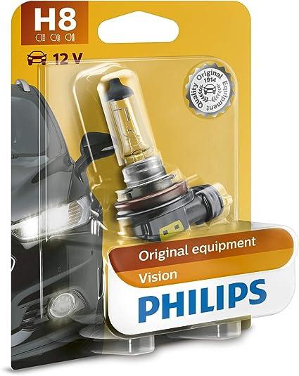 Oferta amazon: Philips 12360XVB1 Vision - Bombilla H8 para faros antiniebla (1 unidad)