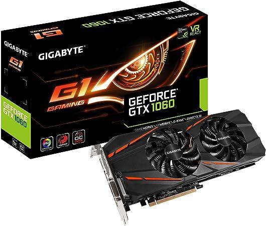 Gigabyte GeForce GTX 1060 G1 Gaming GV-N1060G1GAMING-6GD Graphics Cards