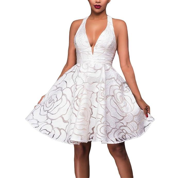 Amazon.com: Eloise Isabel Fashion calças de brim das mulheres do vintage com babados dress halter v neck casual khaki curto das mulheres da praia do verão ...