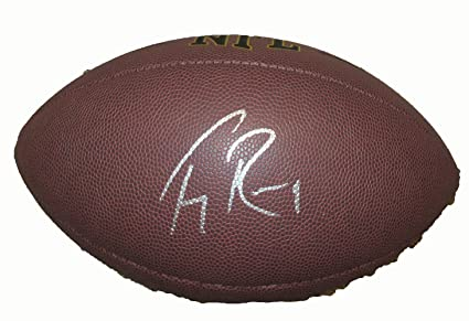 f56c04f54eb Tony Romo Signed Wilson NFL Football W/PROOF, Picture of Tony Signing For Us