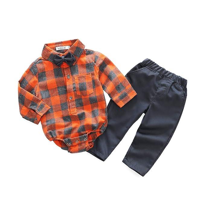 Amazon.com: Bebé recién nacido Casual Suit 3pcs algodón ...