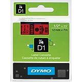 """DYMO Labeling Tape, D1, Split Back, Adhesive, Easy Peel, 1/2""""x23'"""