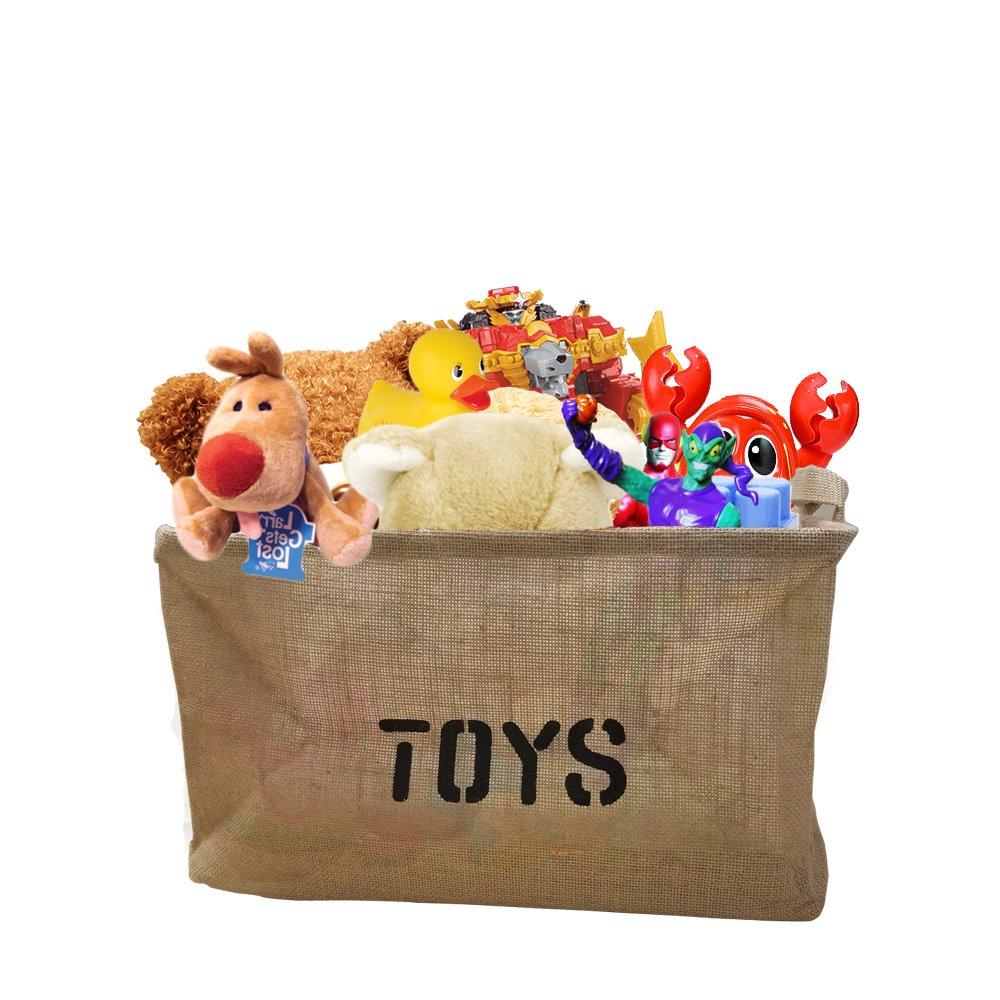 Toy Storage Basket Bin Organizer Great for Dolls, Stuffed Animals, Legos And more, Easy carry handles Decor Hut DH159