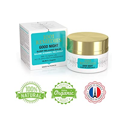 1001 Remedies Crema Ayuda para Dormir Good Night– Remedio Orgánico Relajante para la Ansiedad, Estrés, Insomnio – Loción Herbal con 11 Aceites ...