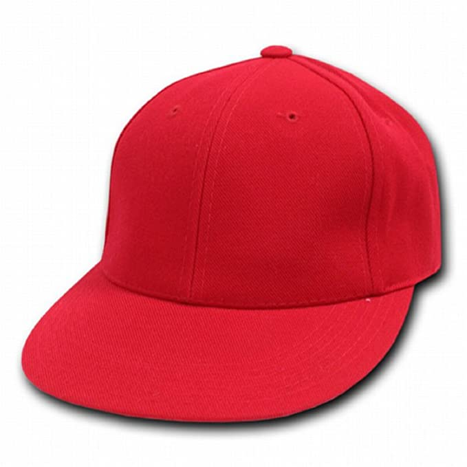 bffd69edf1e Image Unavailable. Image not available for. Color  Decky Orgianl RED Retro  Fitted Baseball Caps ...