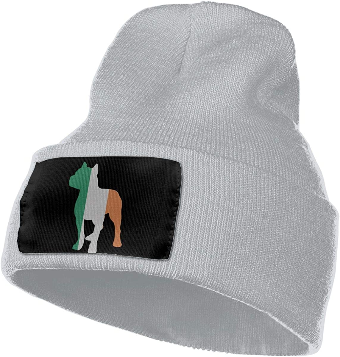 MXMAOM9MX Patriotic Pitbull Irish Flag Warm Knitting Hat Mens Womens 100/% Acrylic Beanie Hat