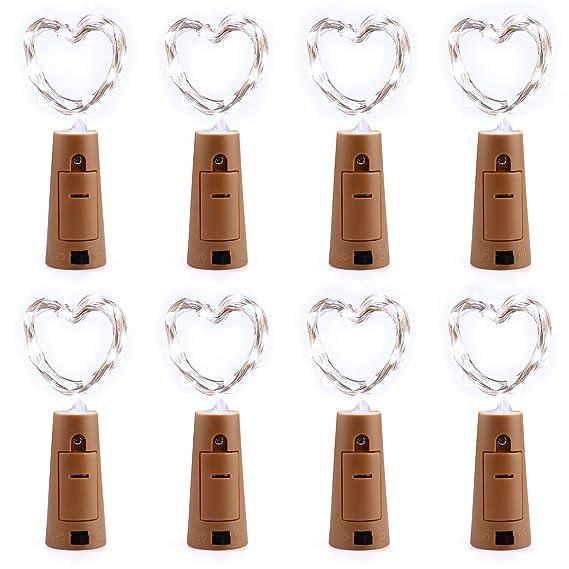 Tannenande Mit Beleuchtung Batteriebetrieben | Qedertek Flaschen Licht Weiss 8 Stuck 20 Led Weihachten Lichterkette