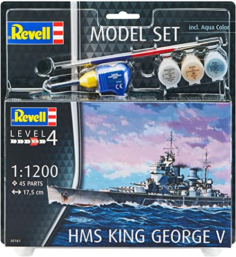 Multicolor Revell- Model Set German Submarine Type Kit pl/ástico 65154 1//93
