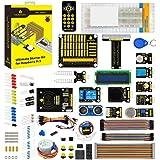 KEYESTUDIO Raspberry Pi スターターキットPCF8591シールド、LED、抵抗器、センサー、1602 LCD、IRリモートコントロール、超音波ラズベリーパイ3 B +(Bプラス)