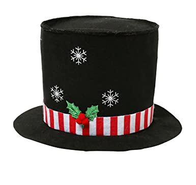 17a69abf2dbf2 Light Up Christmas Top Hat - Black  Amazon.co.uk  Clothing