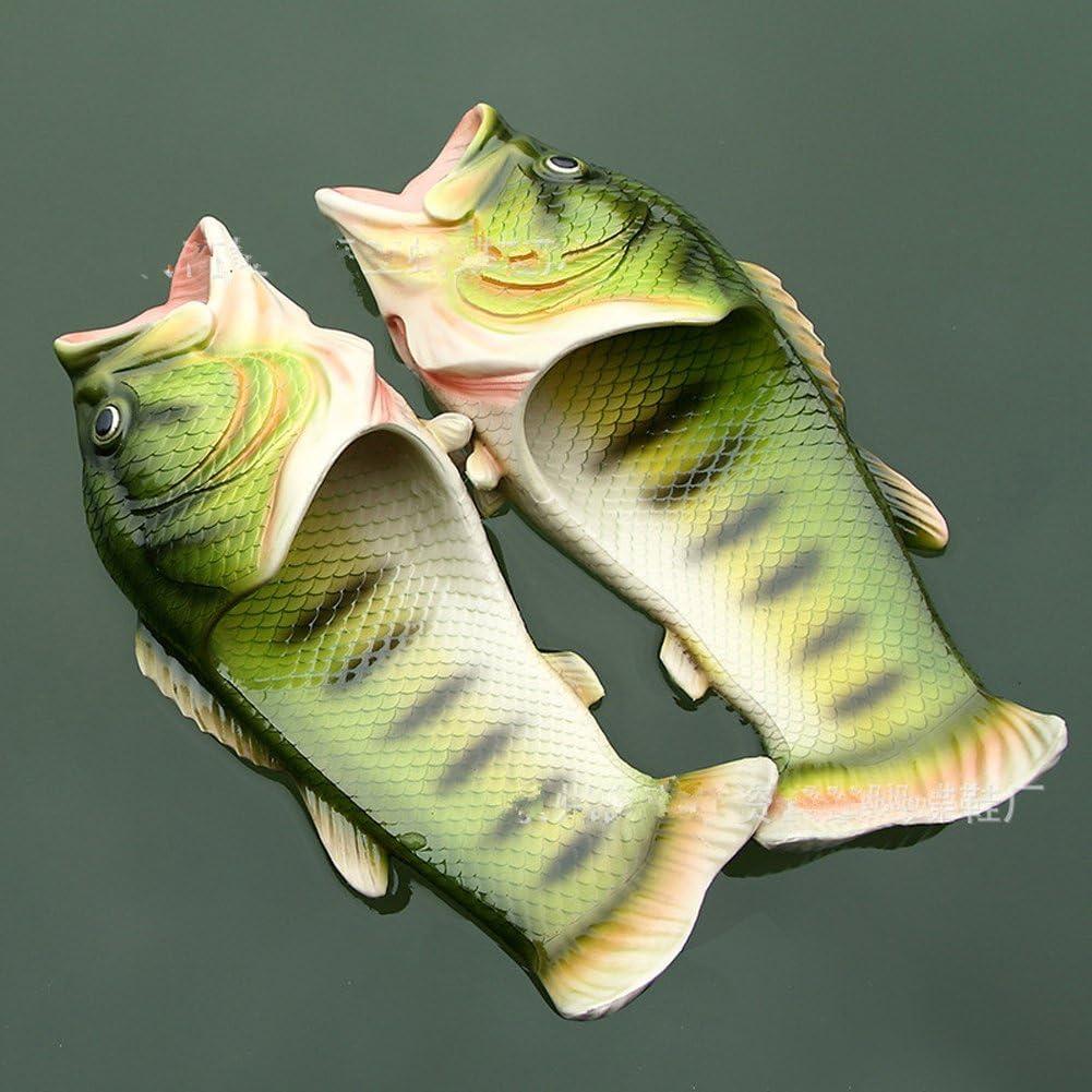 Creative Fish Slippers Man Handmade Fish Sandals Men Beach Bass flip Flops Slides