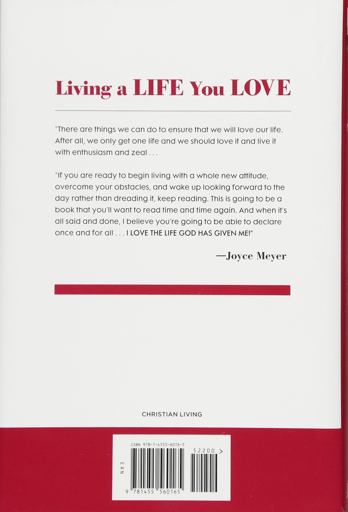 Living a life you love embracing the adventure of being led by the living a life you love embracing the adventure of being led by the holy spirit joyce meyer 9781455560165 amazon books altavistaventures Image collections