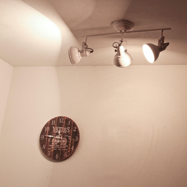 Vintage Strahler für Wand & Decke in weiß 3xE14 im Retrostil ...