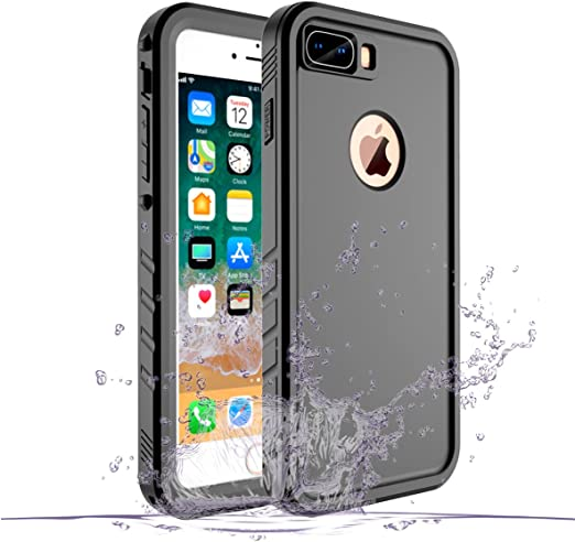 Amazon Com Cozycase Waterproof Case For Iphone 8 Plus Iphone 7 Plus Case Shockproof Full Body Rugged Case With Built In Screen Protector For Apple Iphone 8 Plus 7 Plus Black