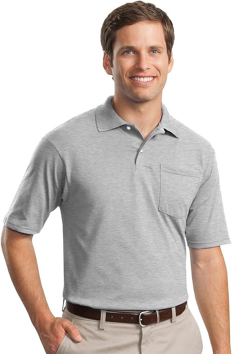 Jerzees Mens SpotShield Jersey Pocket Polo