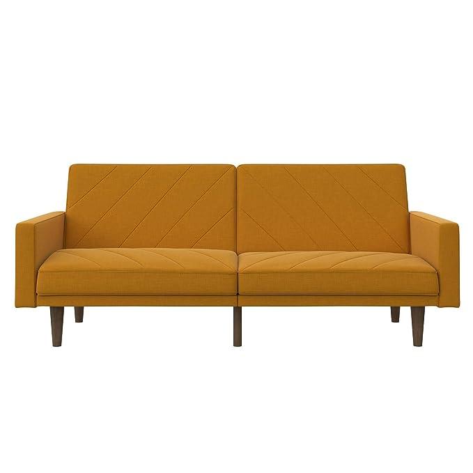 Amazon.com: Sofá cama convertible muebles de salón mostaza ...