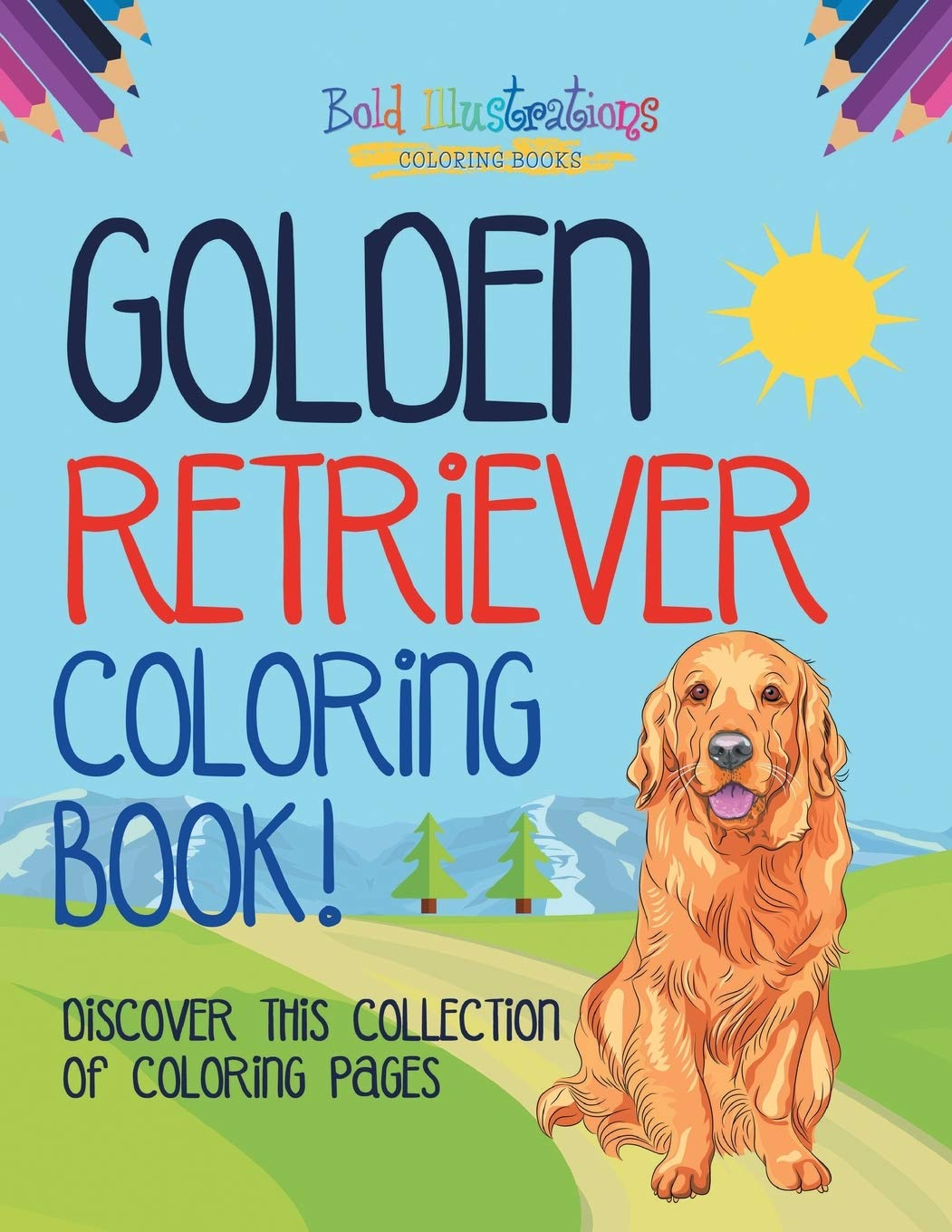 Printable golden retriever coloring page. Free PDF download at ... | 1360x1051