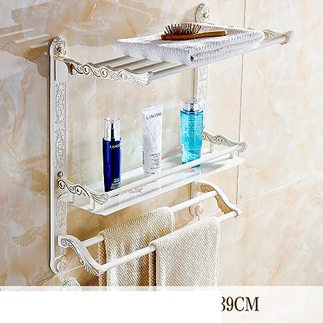 YUE El estilo europeo pintados bastidores cuadrados de oro blanco/ toalla estante plegable/Estante