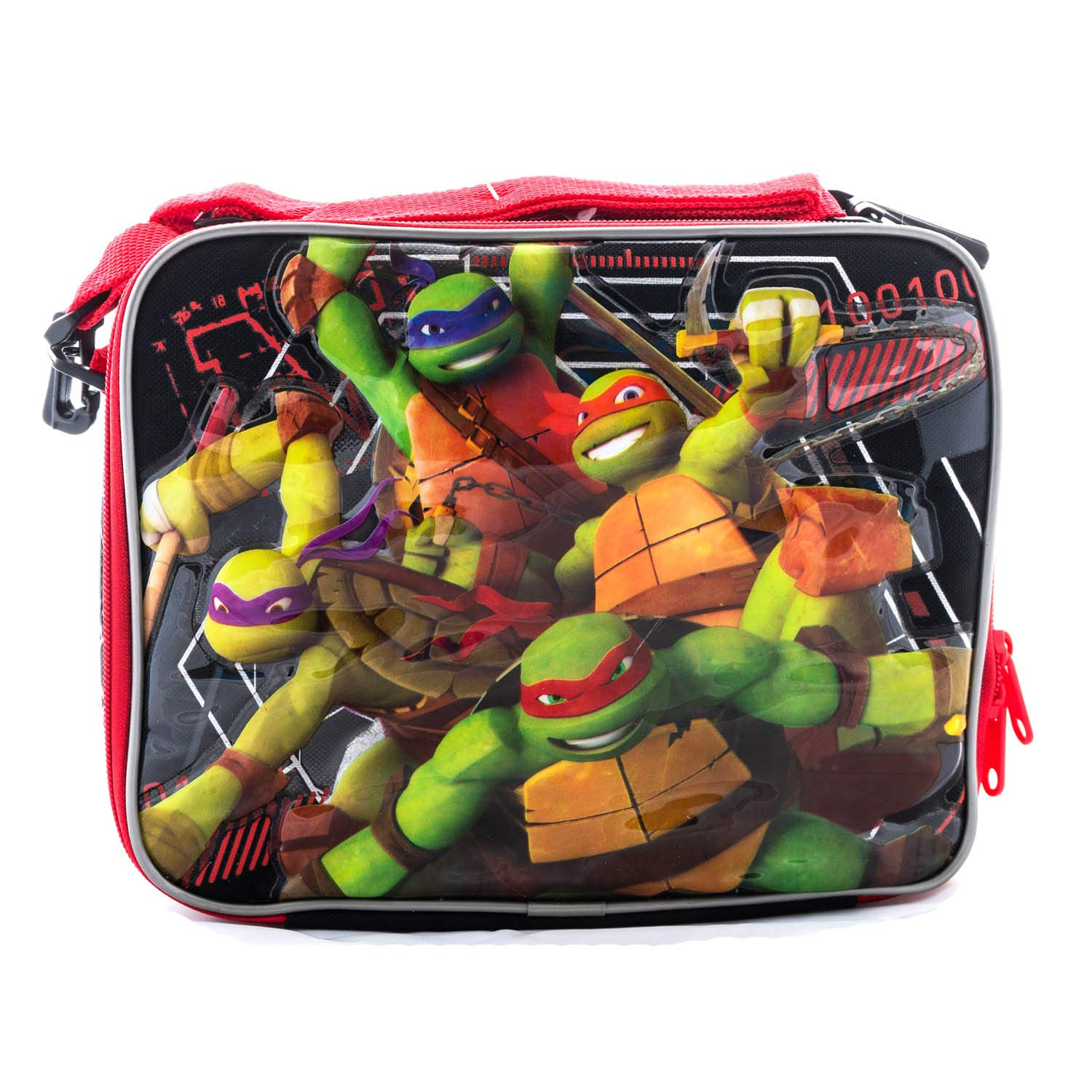 3D TMNT Teenage Mutant Ninja Turtle Backpack or Lunch Box Book Bag Game Travel Everyday bag pouch with Stationary Supplies (Lunch Box)