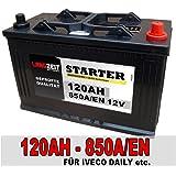 LKW Batterie 120Ah Starterbatterie Autobatterie IVECO Daily II III Transporter