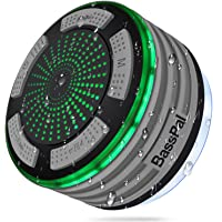 BassPal Shower Speaker, IPX7 Waterproof Portable Wireless Bluetooth 4.0 Speakers with Super Bass and HD Sound, Perfect Speaker for Beach, Pool, Kitchen & Home (Gray)