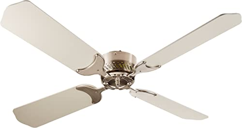 LaSalle Bristol 410TSDC42BNWH 12V Nickel White 42″ Ceiling Fan